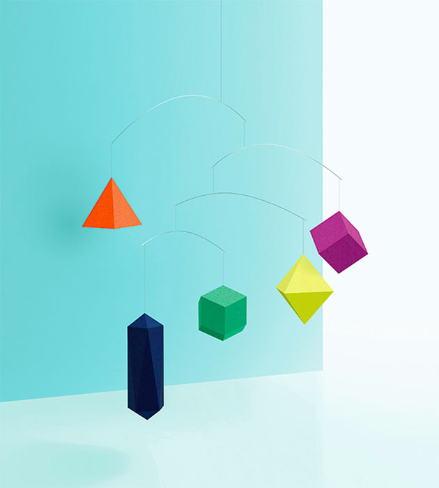 [Small Good Things] Polygon Mobile - Colourful